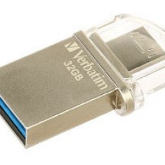 Stick USB 3.0 + microUSB Verbatim Store 'n' Go OTG Micro 32GB Argintiu