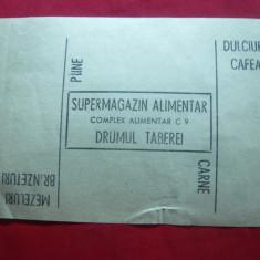 Tichet-Cartela Magazin Alimentar Drumul Taberei