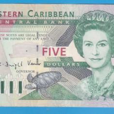 (2) BANCNOTA EASTERN CARIBBEAN - 5 DOLLARS