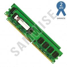 KIT Memorie 2 x 1GB Kingston DDR2 800Mhz PC2-6400, GARANTIE 24 de LUNI !!! - Memorie RAM Kingston, 2 GB, Dual channel