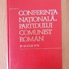 CONFERINTA NATIONALA A PARTIDULUI COMUNIST ROMAN- cartonata - Carte Epoca de aur