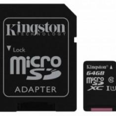 MicroSD 64GB clasa 10 + adaptor Kingston SDC10G2/64GB