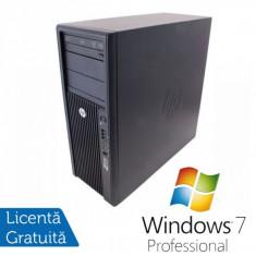 Statie Grafica HP Z210, Intel Xeon E3-1240, 3.3 Ghz, 8Gb DDR3, 750Gb HDD, DVD-ROM + Windows 7 Professional - Sisteme desktop fara monitor