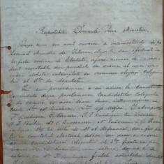 Scrisoare a Presedintelui filialei PNL Botosani catre Dimitrie Sturdza, 1895 - Autograf