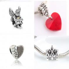 SET 4 Charmuri talismane inima - pt bratara PANDORA - Bratara argint pandora, Femei