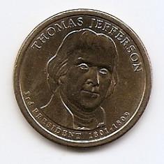 Statele Unite (SUA) 1 Dolar 2007 D - (Thomas Jefferson) KM-403 (1), America de Nord