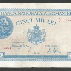 ROMANIA 5000 5.000 LEI 2 MAI 1944 [5] XF - Bancnota romaneasca