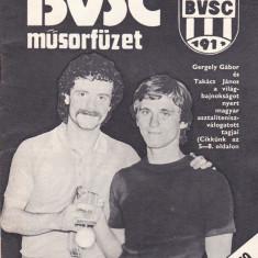 Brosura sport prezentare(1979) clubul BVSC din UNGARIA - Program meci