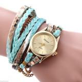 Ceas Fashion Dama GENEVA Tip Bratara - Nou, Quartz -  VERDE, Casual, Analog
