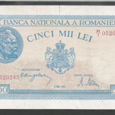 ROMANIA 5000 5.000 LEI 2 MAI 1944 [16] VF - Bancnota romaneasca