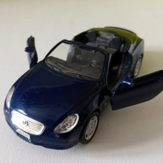 Masinuta fier Welly Lexus SC430 Nr. 2336, albastru inchis, portierele se deschid - Macheta auto Alta