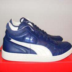 Ghete Puma Boris Becker Leather Mid Top 357768 03 nr. 40 si 45 - Ghete barbati Puma, Culoare: Albastru, Piele naturala