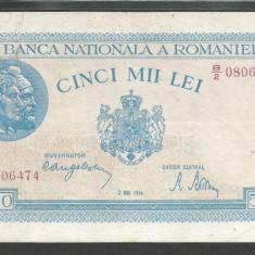 ROMANIA 5000 5.000 LEI 2 MAI 1944 [13] VF+ - Bancnota romaneasca