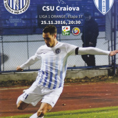 Program meci fotbal CSM POLI IASI - UNIVERSITATEA CRAIOVA 25.11.2016