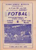 Program meci fotbal OTELUL GALATI - SC BACAU 18.06.1987