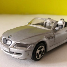 Masinuta fier Macheta Bburago BMW Roadster 1/43 silver / gri metalizat