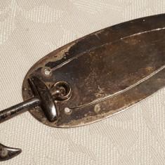 Argint Semn de Carte cu heraldica ANCORA executat manual Superb patina minunata, Ornamentale