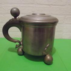 Impresionant VAS interbelic, 1932, gravat, marcaj GAB Suedia, 1, 5 kg, HALBA - Metal/Fonta, Ornamentale