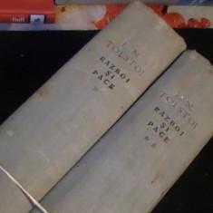 RAZBOI SI PACE-L.N. TOLSTOI-2 VOL- - Roman istoric