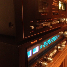 Linie Audio NIKKO : Amplituner 5055 + Deck CTD -2200L - Vintage/Japan/Impecabila