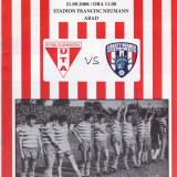 Program meci fotbal FCM UTA (Arad) - LIBERTY ORADEA 21.09.2008