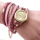 Ceas Fashion Dama GENEVA Tip Bratara - Nou, Quartz -  ROZ