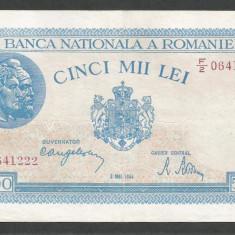 ROMANIA 5000 5.000 LEI 2 MAI 1944 [3] XF - Bancnota romaneasca