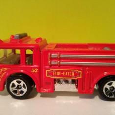 Masinuta fier macheta Masina pompieri Hot Wheels Fire Eater 52, Mattel 1976, A27 - Macheta auto