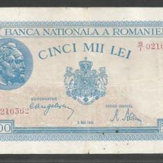 ROMANIA 5000 5.000 LEI 2 MAI 1944 [15] VF+ - Bancnota romaneasca
