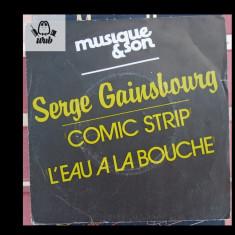 Serge Gainsbourg disc vinil single Musique et son Comic strip 16077917 st f buna - Muzica Folk Altele