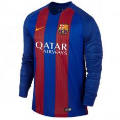 Tricou fotbal BARCELONA model 2016-2017 nr 10 MESSI - Tricou echipa fotbal, Marime: L, M, XL, Culoare: Din imagine, De club, Maneca lunga