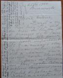 Scrisoare din 1930 catre Elena Vacarescu