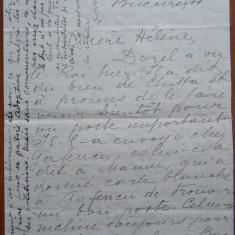 Scrisoare din 1930 catre Elena Vacarescu - Autograf