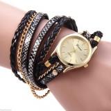 Ceas Fashion Dama GENEVA Tip Bratara - Nou, Quartz -  Negru