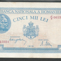 ROMANIA 5000 5.000 LEI 2 MAI 1944 [10] VF+ - Bancnota romaneasca