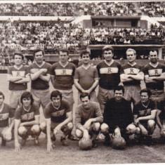 Foto veche echipa de fotbal OLD-BOYS RAPID Bucuresti pe stadionul PETROLUL