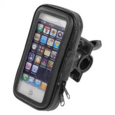 Husa De Protectie Telefon Mobil, Cu Suport Pentru Bicicleta - Husa Telefon, Universala, Negru