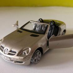 Masinuta fier macheta Maisto Mercedes-Benz SLK, 1/37, silver / gri metalizat - Macheta auto