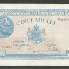 ROMANIA 5000 5.000 LEI 2 MAI 1944 [18] VF - Bancnota romaneasca