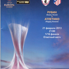 Program meci fotbal RUBIN KAZAN (Rusia)-ATLETICO MADRID 21.02.2013 Europa League