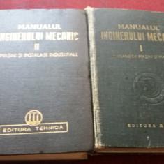 MANUALUL INGINERULUI MECANIC VOL I SI II 1949-1951 - Carti Mecanica