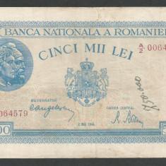 ROMANIA 5000 5.000 LEI 2 MAI 1944 [20] P-55 - Bancnota romaneasca