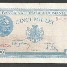 ROMANIA 5000 5.000 LEI 2 MAI 1944 [12] VF+ - Bancnota romaneasca