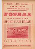 Program meci fotbal SC BACAU - OTELUL GALATI 25.05.1988