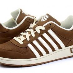 K-swiss Pantofi Sport-Casual - Thelen, marimea 42 - Adidasi barbati K-Swiss, Culoare: Maro, Piele naturala