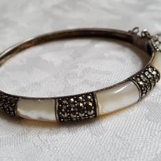 Bratara argint cu zirconii tip Catusa Splendida Eleganta Finuta Superba de Efect - Bijuterie veche