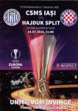 Program meci fotbal CSMS IASI - HAJDUK SPLIT 14.07.2016 Europa League
