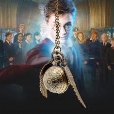 Ceas De Buzunar Harry Potter - Golden Snitch , Quartz , Nou
