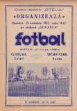 Program meci fotbal OTELUL GALATI - SC BACAU 29.11.1987