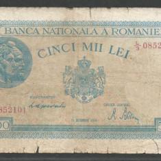 ROMANIA 5.000 5000 LEI 15 DECEMBRIE 1944 [12] P-55 - Bancnota romaneasca